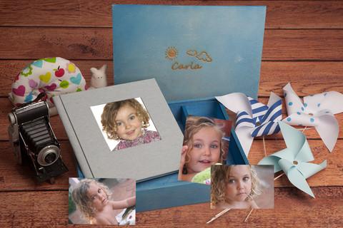 Caja personalizada con album de fotos